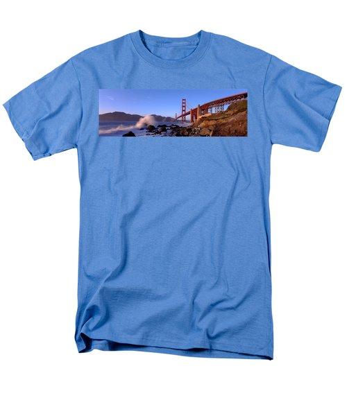 Bridge Across The Bay, San Francisco Men's T-Shirt  (Regular Fit) by Panoramic Images