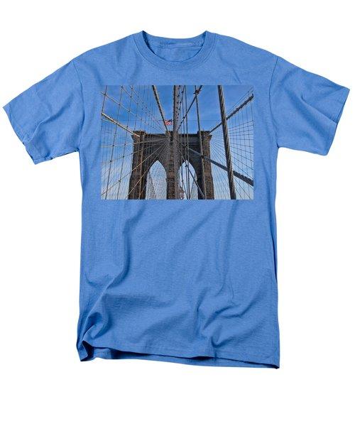 Men's T-Shirt  (Regular Fit) featuring the photograph Brooklyn Bridge by David Gleeson