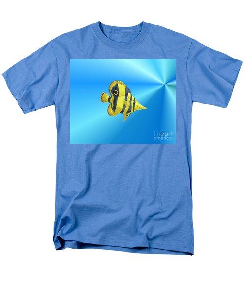 Men's T-Shirt  (Regular Fit) featuring the digital art Butterfly Fish by Chris Thomas