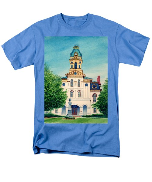 Cabarrus County Courthouse Men's T-Shirt  (Regular Fit) by Stacy C Bottoms