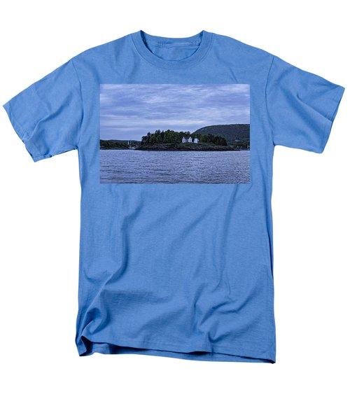 Men's T-Shirt  (Regular Fit) featuring the photograph Camden Twilight N Curtis Island Light House by Daniel Hebard