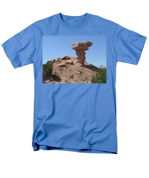 Men's T-Shirt  (Regular Fit) featuring the photograph Camel Rock - Natural Rock Formation by Dora Sofia Caputo Photographic Art and Design