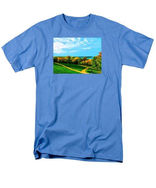 Campus Fall Colors Men's T-Shirt  (Regular Fit) by Zafer Gurel
