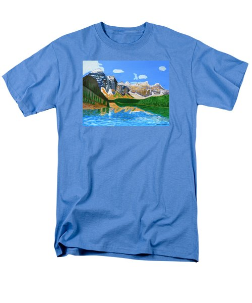 Canadian Mountains And Lake  Men's T-Shirt  (Regular Fit) by Magdalena Frohnsdorff