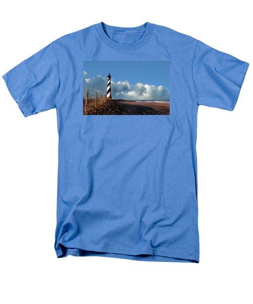 Cape Hatteras Lighthouse Nc Men's T-Shirt  (Regular Fit) by Skip Willits