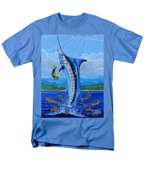 Caribbean Blue Off0041 Men's T-Shirt  (Regular Fit) by Carey Chen