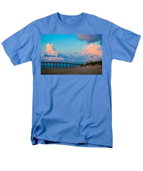 Carolina Blue Over Kure Beach Men's T-Shirt  (Regular Fit) by Mary Ward