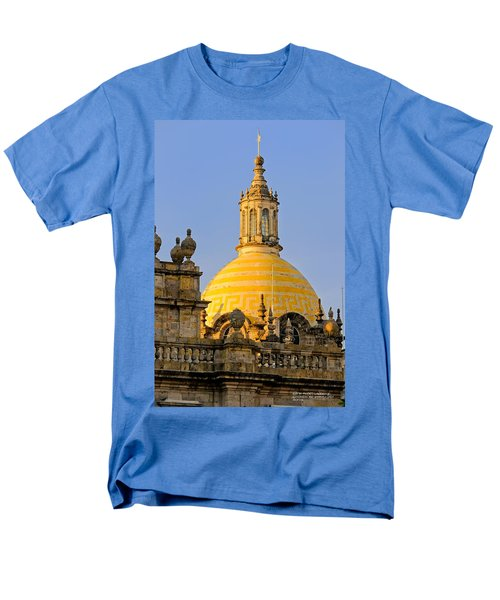 Men's T-Shirt  (Regular Fit) featuring the photograph Catedral De Guadalajara by David Perry Lawrence