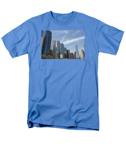 Chicago Skyscrapers Men's T-Shirt  (Regular Fit) by The Art of Alice Terrill