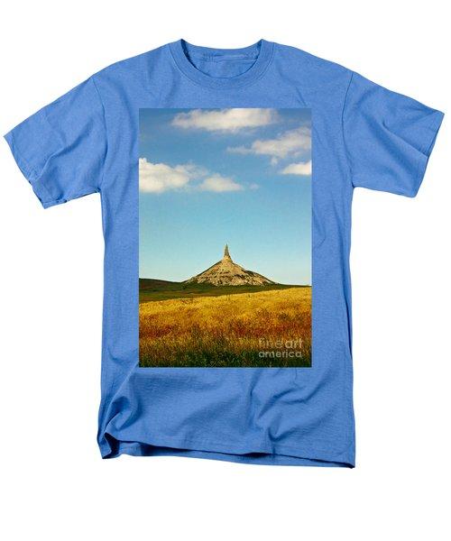 Chimney Rock Nebraska Men's T-Shirt  (Regular Fit) by Robert Frederick
