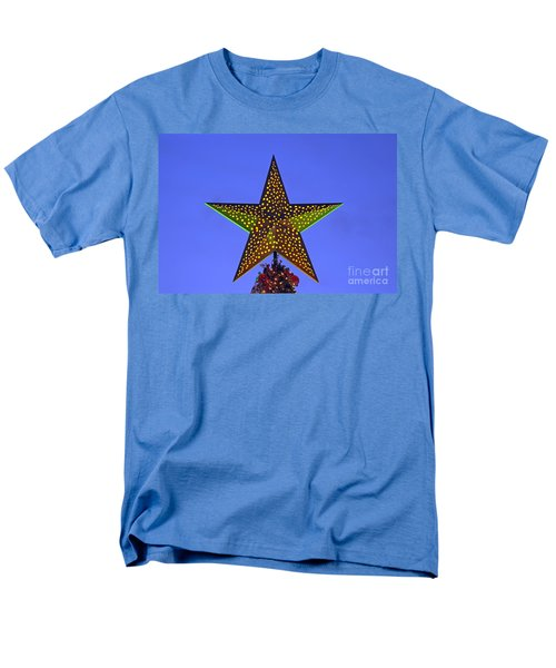 Christmas Star During Dusk Time Men's T-Shirt  (Regular Fit) by George Atsametakis