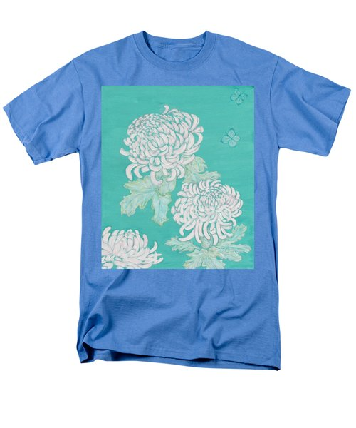 Men's T-Shirt  (Regular Fit) featuring the painting Chrysanthemums And Butterflies by Stephanie Grant