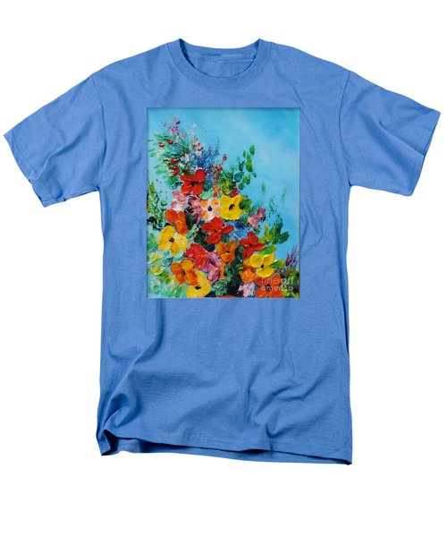 Men's T-Shirt  (Regular Fit) featuring the painting Colour Of Spring by Teresa Wegrzyn