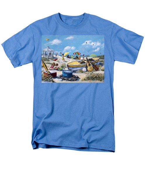 Crab Pickin Men's T-Shirt  (Regular Fit) by Gail Butler