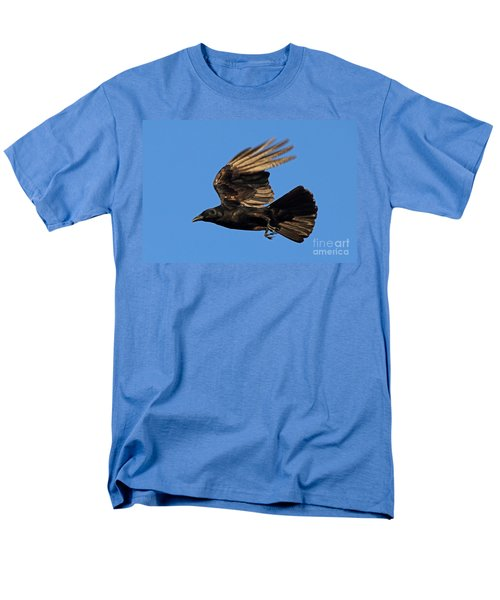 Men's T-Shirt  (Regular Fit) featuring the photograph Crow In Flight by Meg Rousher