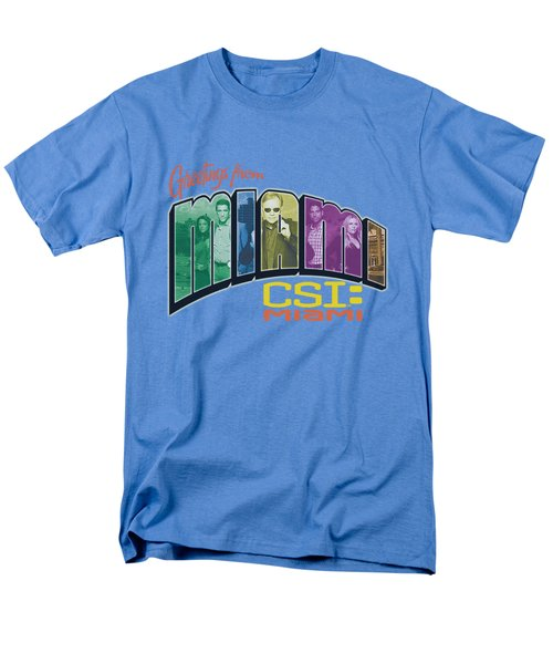 Csi Miami - Greeting From Miami Men's T-Shirt  (Regular Fit) by Brand A