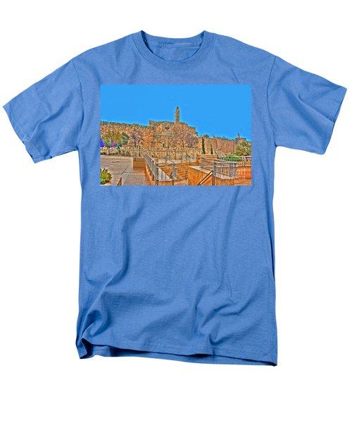 Men's T-Shirt  (Regular Fit) featuring the photograph Davids Citadel - Israel by Doc Braham