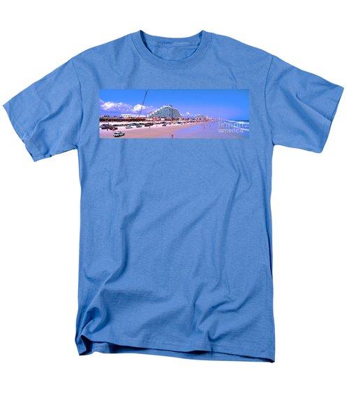 Men's T-Shirt  (Regular Fit) featuring the photograph Daytona Main Street Pier And Beach  by Tom Jelen