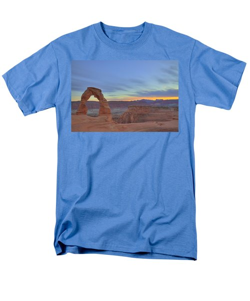 Men's T-Shirt  (Regular Fit) featuring the photograph Delicate Arch At Sunset by Alan Vance Ley