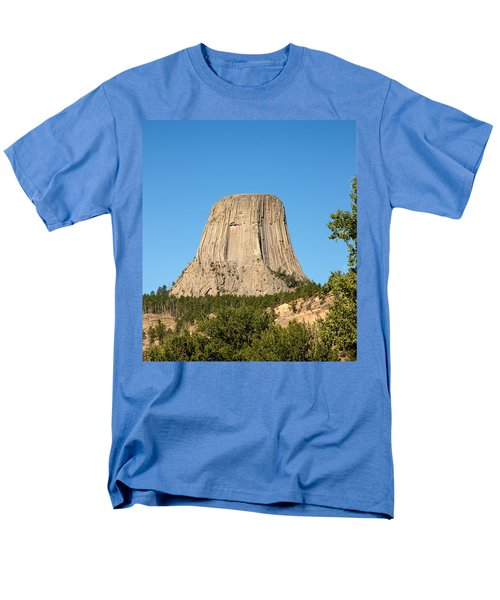 Men's T-Shirt  (Regular Fit) featuring the photograph Devils Tower by John M Bailey
