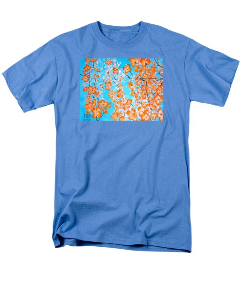 Men's T-Shirt  (Regular Fit) featuring the painting Dogwoods by Donna Dixon