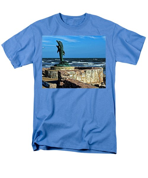 Dolphin Statue Men's T-Shirt  (Regular Fit) by Judy Vincent