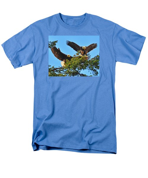 Men's T-Shirt  (Regular Fit) featuring the photograph Double Landing by Jack Moskovita