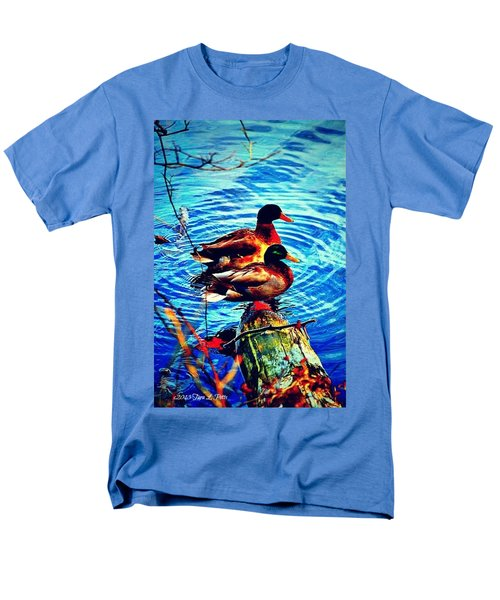 Men's T-Shirt  (Regular Fit) featuring the photograph Ducks On A Log by Tara Potts