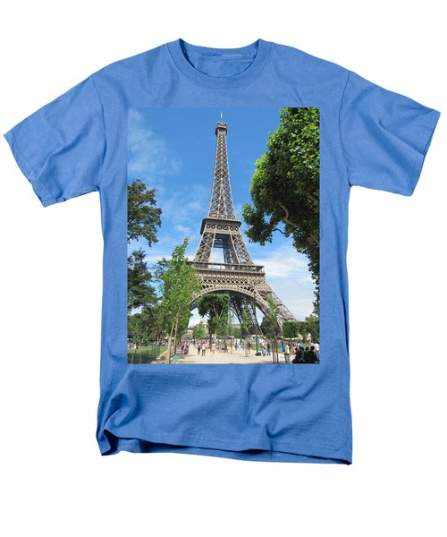 Men's T-Shirt  (Regular Fit) featuring the photograph Eiffel Tower - 1 by Pema Hou
