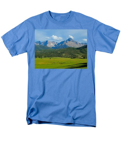 Elk Below Mount Sneffels Men's T-Shirt  (Regular Fit) by Dan Miller