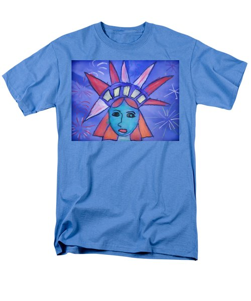 Emma's Lady Liberty Men's T-Shirt  (Regular Fit) by Alice Gipson