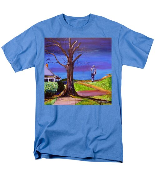Men's T-Shirt  (Regular Fit) featuring the painting End Of Day Highway 98 by Ecinja Art Works