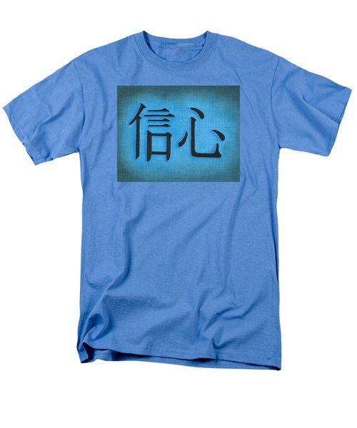 Men's T-Shirt  (Regular Fit) featuring the drawing Faith by Troy Levesque