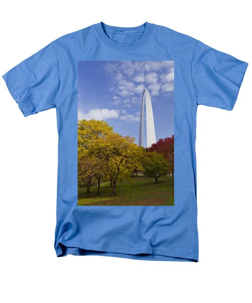 Fall At The St Louis Arch Men's T-Shirt  (Regular Fit) by Garry McMichael