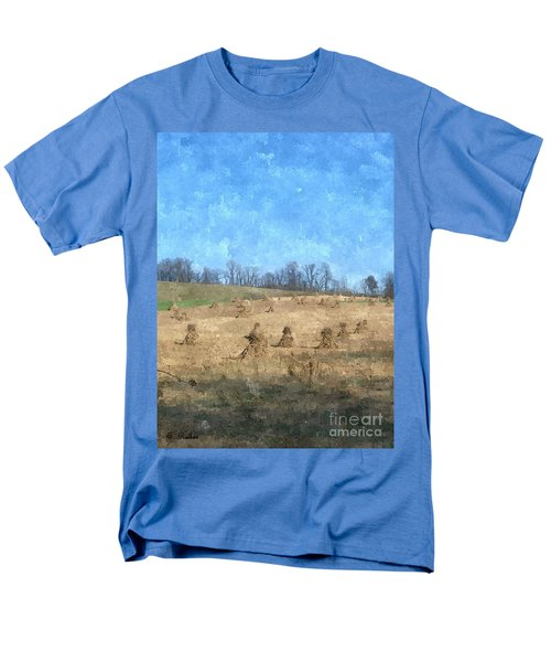 Men's T-Shirt  (Regular Fit) featuring the painting Farm Days 2 by Sara  Raber