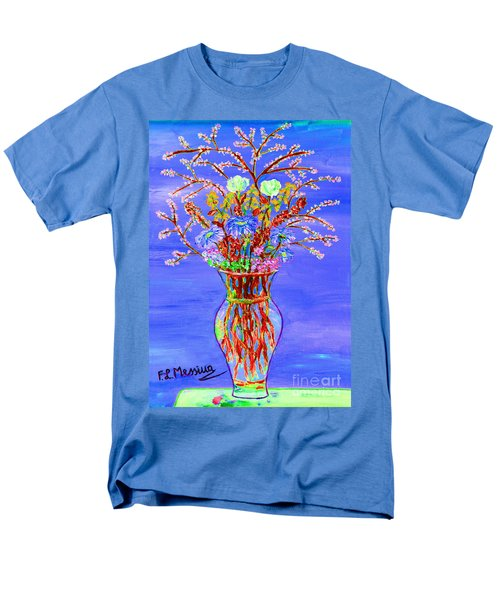 Men's T-Shirt  (Regular Fit) featuring the painting Fiori by Loredana Messina