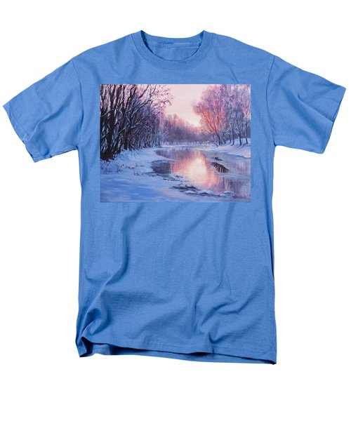 Men's T-Shirt  (Regular Fit) featuring the painting First Light by Karen Ilari