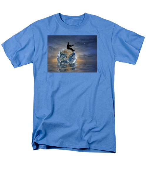 Men's T-Shirt  (Regular Fit) featuring the digital art Fishing Is My World by Nina Bradica