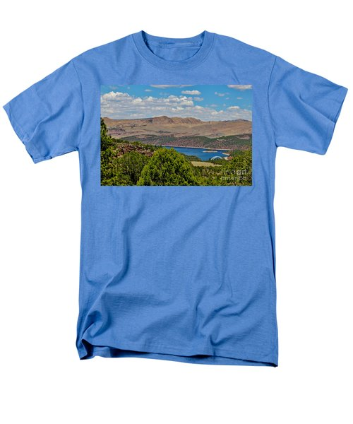 Men's T-Shirt  (Regular Fit) featuring the photograph Flaming Gorge by Janice Rae Pariza