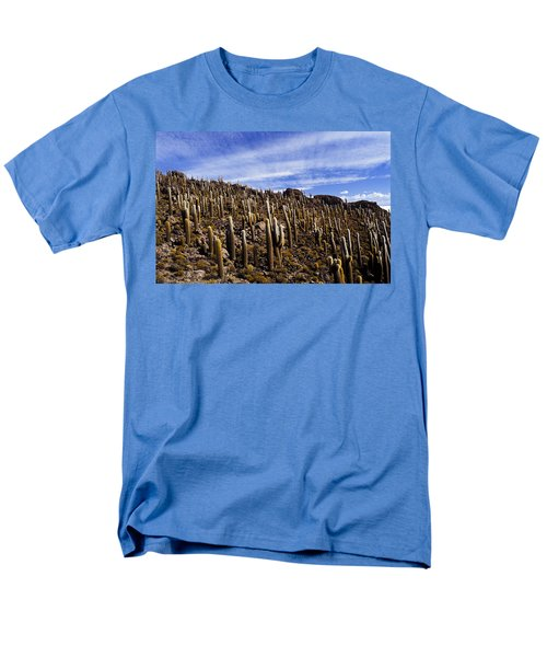 Men's T-Shirt  (Regular Fit) featuring the photograph Forest Of Cacti by Lana Enderle