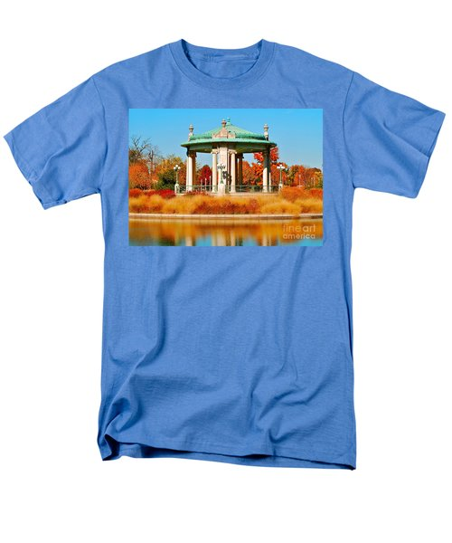 Men's T-Shirt  (Regular Fit) featuring the photograph Forest Park Gazebo by Peggy Franz
