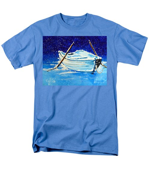 Men's T-Shirt  (Regular Fit) featuring the painting Forgotten Rowboat by Jackie Carpenter