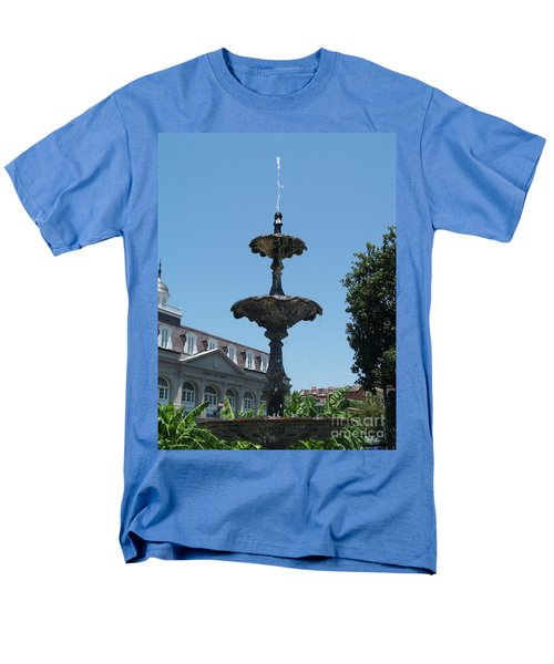 Men's T-Shirt  (Regular Fit) featuring the painting Fountain  by Robin Maria Pedrero
