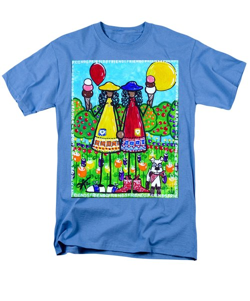 Men's T-Shirt  (Regular Fit) featuring the painting Friends by Jackie Carpenter