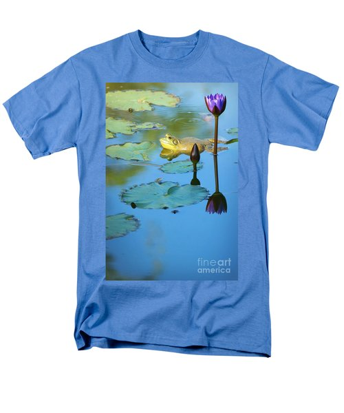 Men's T-Shirt  (Regular Fit) featuring the photograph Frog And Lily by Ellen Cotton