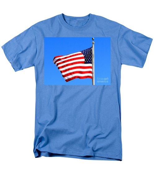Men's T-Shirt  (Regular Fit) featuring the photograph God Bless America by Judy Palkimas