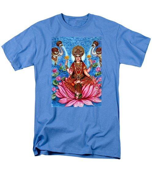 Men's T-Shirt  (Regular Fit) featuring the painting Goddess Lakshmi by Harsh Malik