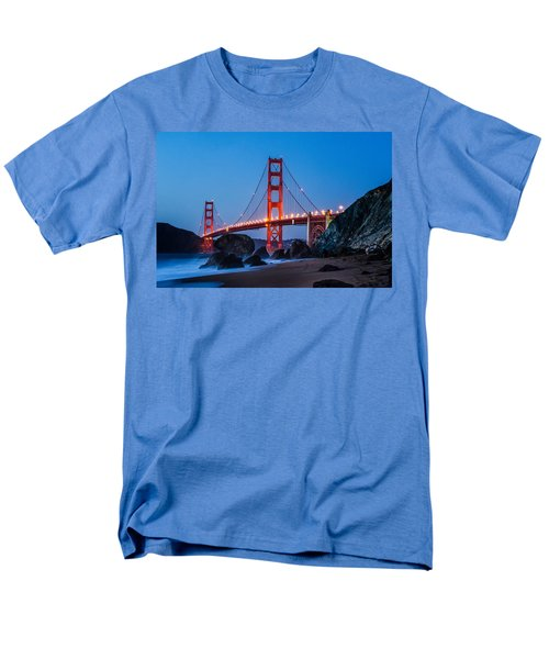 Golden Gate At Twilight Men's T-Shirt  (Regular Fit) by Linda Villers