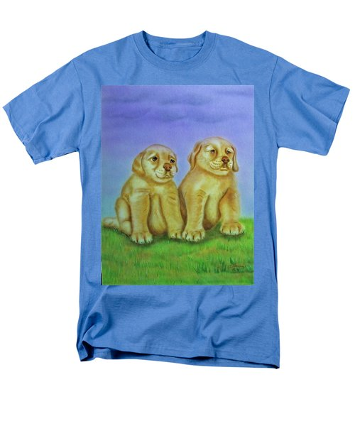 Men's T-Shirt  (Regular Fit) featuring the painting Golden Retriever by Thomas J Herring