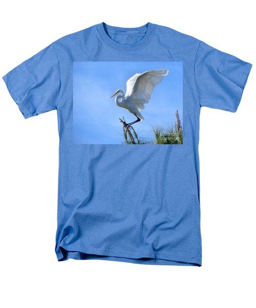 Men's T-Shirt  (Regular Fit) featuring the photograph Graceful Landing by Deb Halloran
